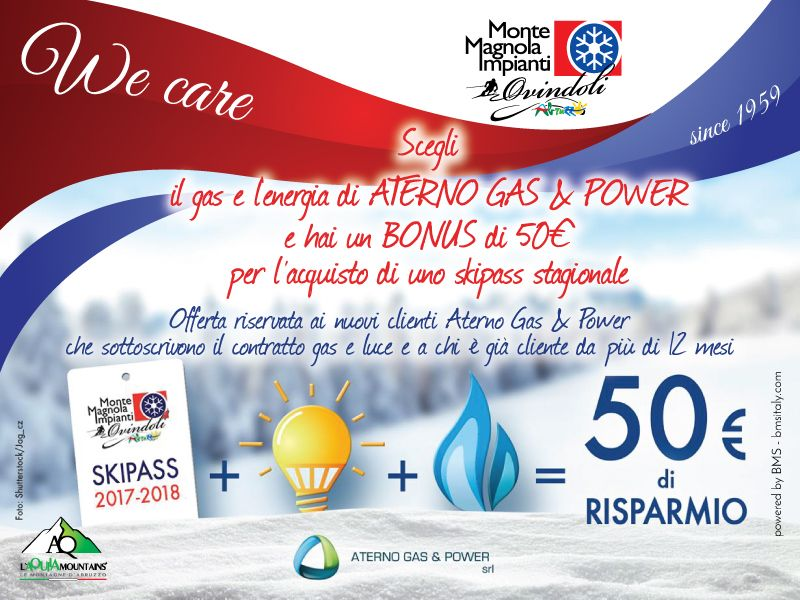 50 € DI SCONTO CON ATERNO GAS & POWER