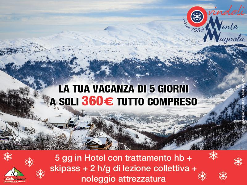 OVINDOLI SPECIAL PRICE è la proposta esclusiva che Ovindoli Monte Magnola ha realizzato, assieme agli operatori turistici del territorio per promuovere i soggiorni nel periodo di bassa stagione.